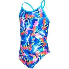Zoggs Digital Geo Sprintback Swimsuit Girls blue/multi